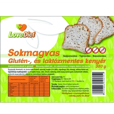 Love diet sokmagvas fiss kenyér 350g