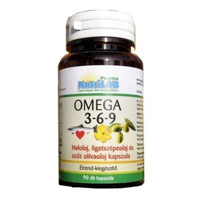 Nutrilab omega 3-6-9 kapszula 90db