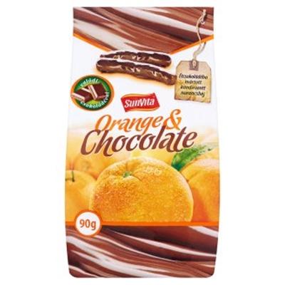 Sunvita csokoládés kandírozott narancshéj 90g