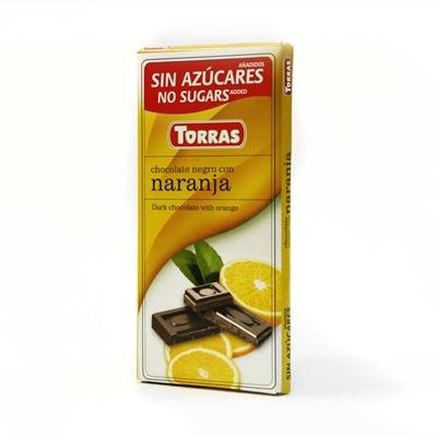 Torras étcsokoládé narancsos 75g